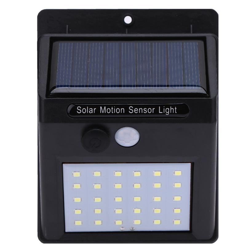 Costbuys  1PC Rechargeable LED Solar Light Outdoor Fence Garden Lamp Decoration PIR Motion Sensor Night Security Wall Bulb Water