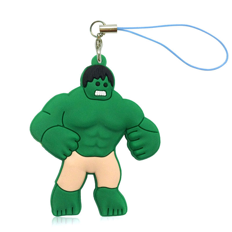 Costbuys  1PCS Cartoon Super Heroes PVC Cell Phone Decor Hanging Ornament Phone Straps Keychains Bag Accessories Party Gift Fash