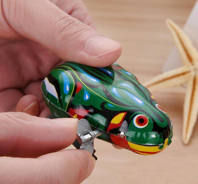 Costbuys  1PCS Classic Jumping Vintage     Frog  Wind Up Clockwork   Toy Children Kids Gifts  Educational Toy