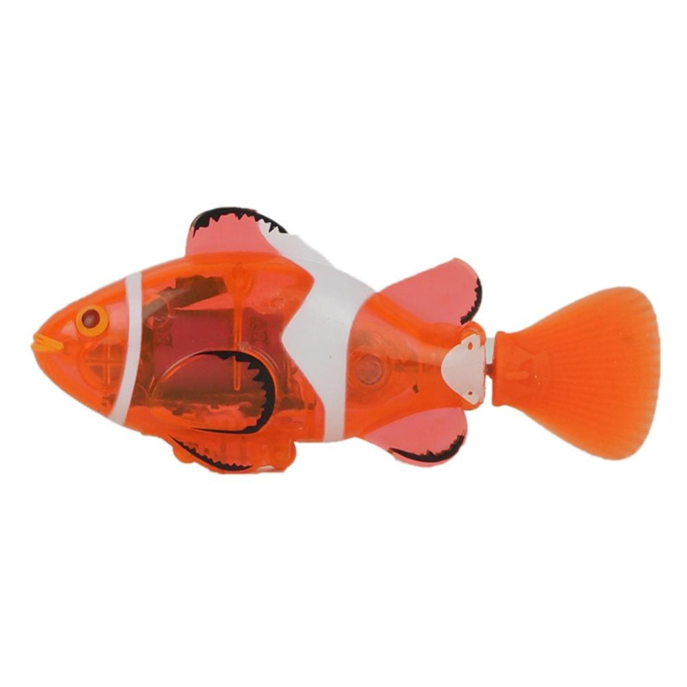 Costbuys  1PCS 2 Color RC Fish Toy Powered Speed Radio Control Toys Plastic Model Outdoor Toys for Children - Orange
