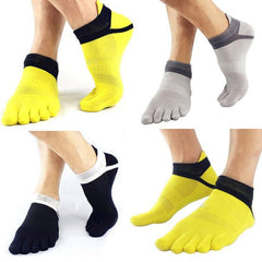 1Pair Men Boy 5 Fingers Toe Short Socks Cotton Breathable Ankle Sock