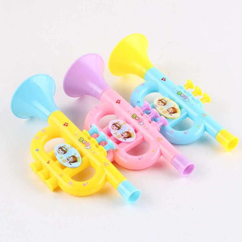 Costbuys  1Pc Plastic Trumpet Musical Instruments For Children Baby Kids Musical Toys Music Trumpet Hooter Baby Toy Random Color