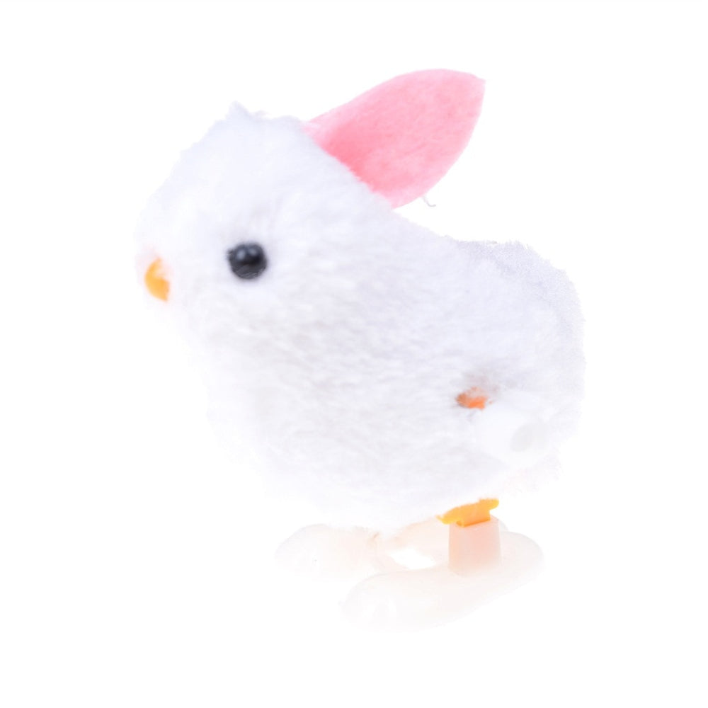 1Pc Wind Up Easter Chick Infant Child Plush Doll Toys Hopping Jumping Bunny Gift Soft Plush Rabbit Jumping Bunny Doll Toys Classic & Retro Toys