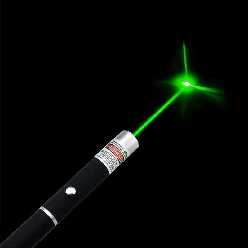 Costbuys  1Pcs 5mW Green  Red Purple Laser Pen Powerful Laser Pointer Presenter Remote Lazer Hunting Laser Bore Sighter - Green