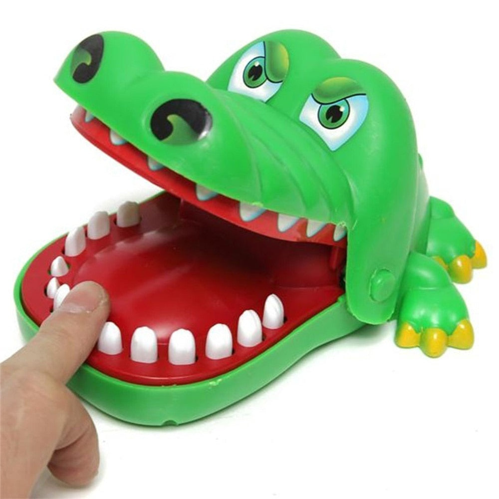 Costbuys  Small Size Plastic Popular Crocodile Big Mouth Dentist Bite Finger Game Funny Gags Toy For Kids New Creative Novelty &