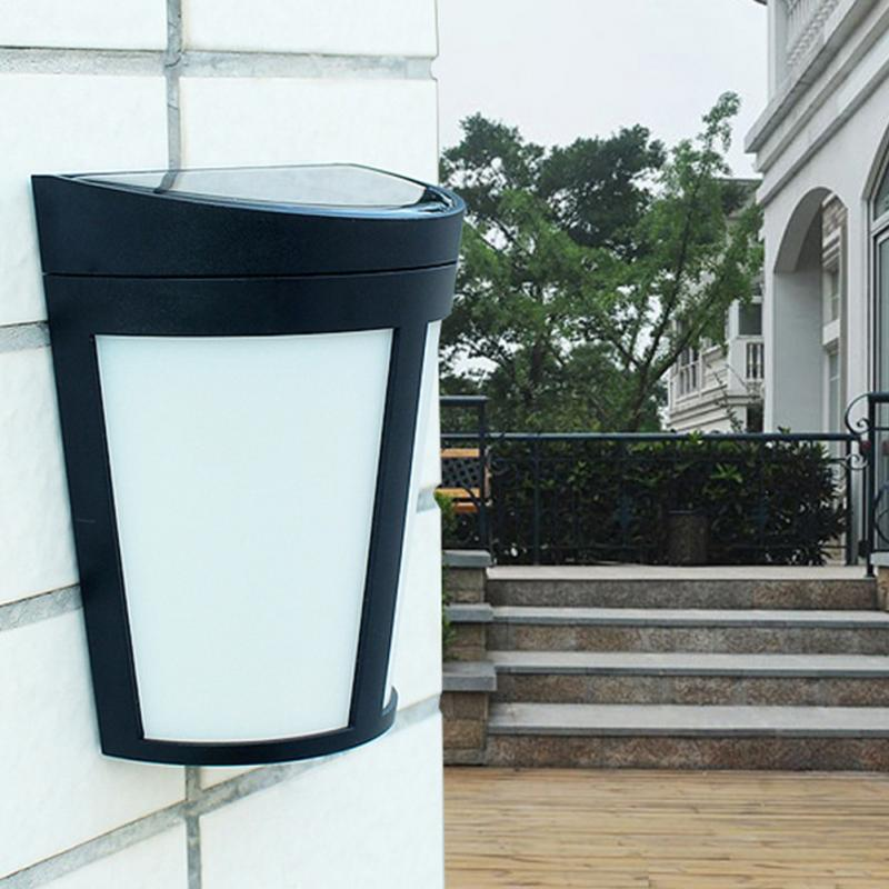 1pc Solar Outdoor Light Energy Saving 6 LED Wall Lamp Solar Security Lights For Outdoor Garden LED Lights Decorative