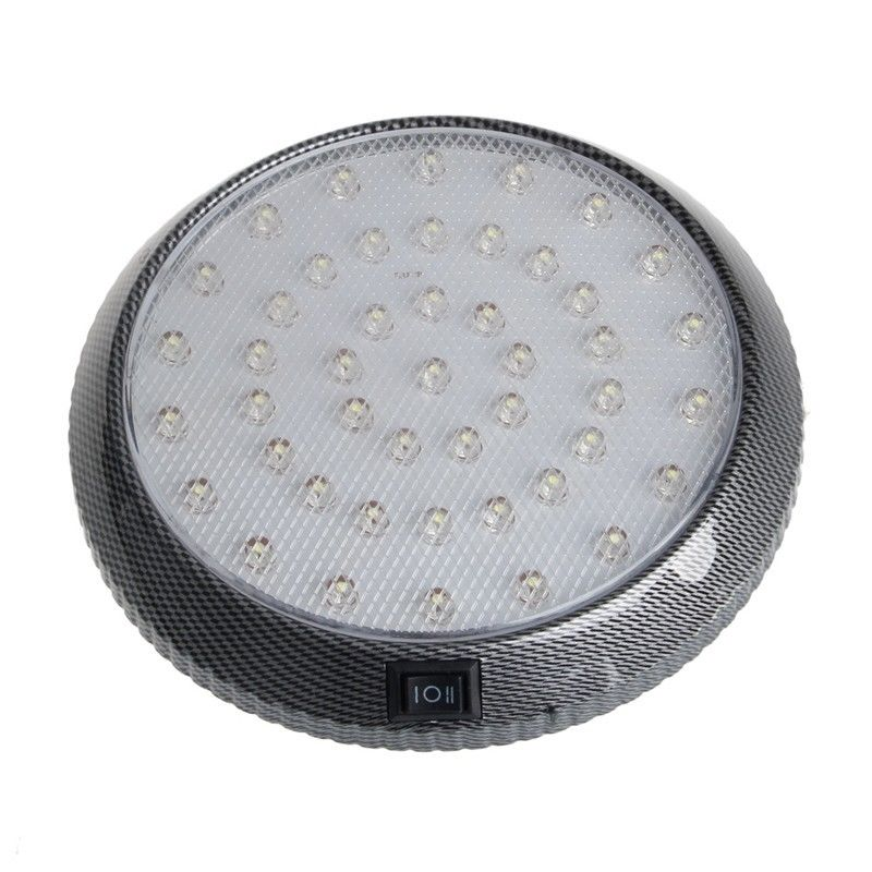 Costbuys  1pc New White 46LED Round Light Car Interior Indoor Roof Ceiling Dome Decorative Lamp DC 12V High Quality
