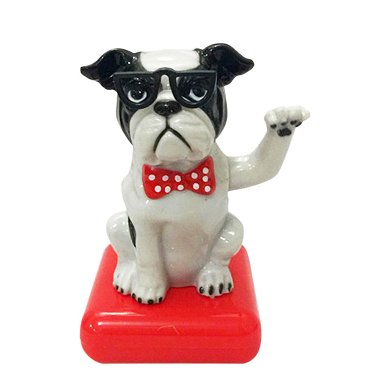 Costbuys  1pc Solar Powered Dancing Animal Swinging  Cute Dog Car Animated Bobble Dancer Toy Car Home Decoration - Dog 2