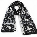 1pcs Fashion Designer Winter Man Scarf Cool Holiday Gift For Husband Dad Son Deer Flake Pattern Acrylic Scarves