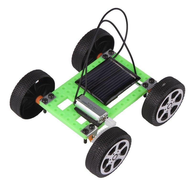Costbuys  1pcs Mini Solar Powered Toy DIY Car Kit Children Educational Gadget Hobby Funny Hot Worldwide - 01