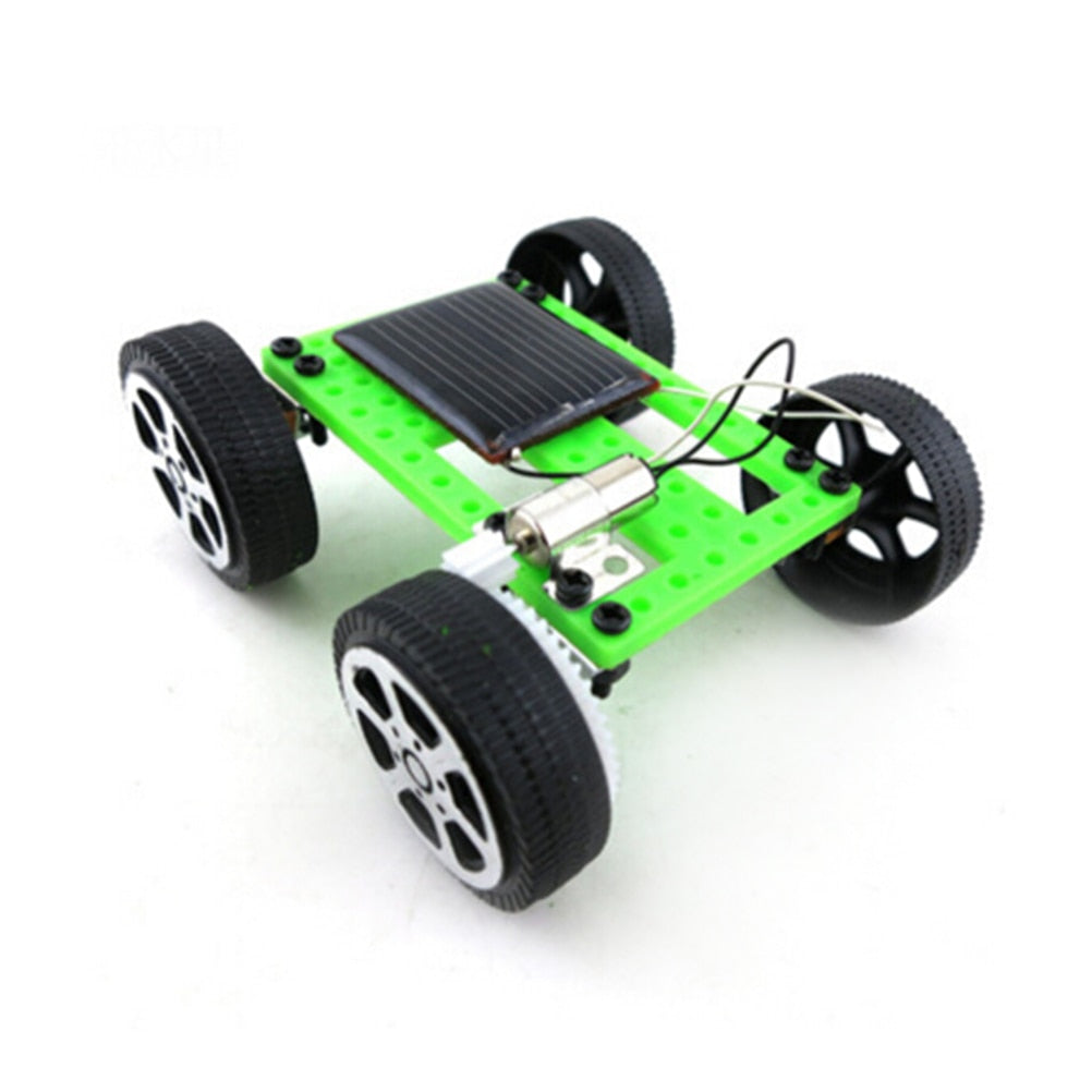 Costbuys  1pcs Mini Solar Powered Toy DIY Car Kit Children Educational Gadget Hobby Funny New