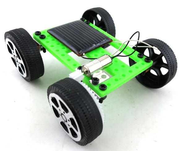 Costbuys  1pcs Mini Solar Powered Toy DIY Car Kit Children Educational Gadget Hobby Funny Toy
