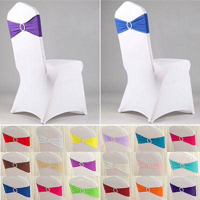 Chair Cover Elastic Sash for Wedding and Events Christmas, Party Decoration
