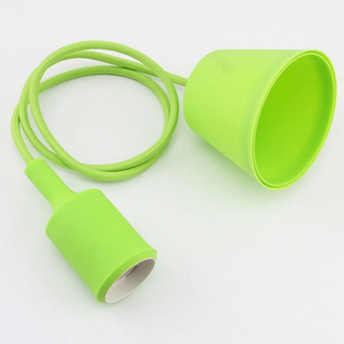 Costbuys  1pcs/lot 1meters E27 colorful silicone lamp holder High quality pendant light  modern DIY pendant lights lamp - Green