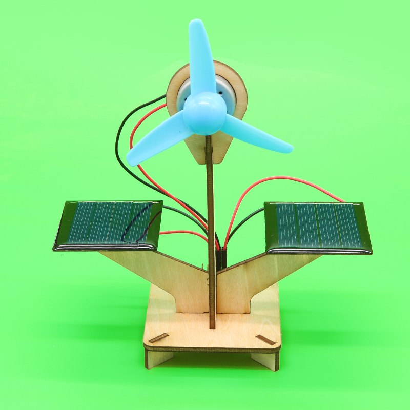 Costbuys  1set DIY Handmade Solar Powered Fan Science Technology Small Invention Steam Education Physics Experiment Manual Assem