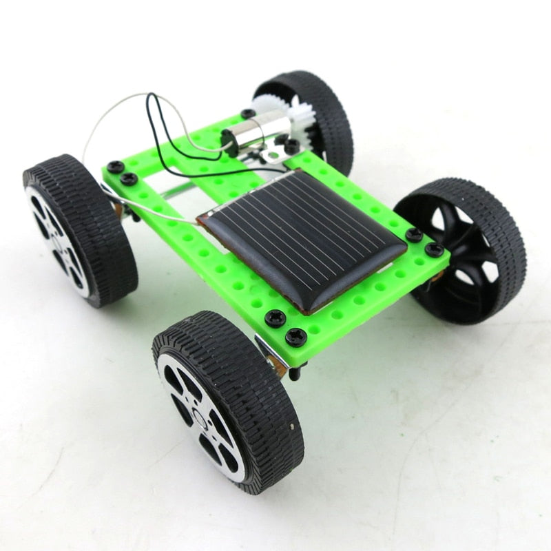 Costbuys  1set Mini Solar Car Children Handmade Solar Powered Toys Car Child Educational Funny Gadget Hobby Gift DIY Technology