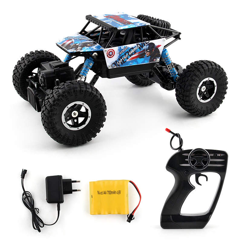 Costbuys  2.4G 4WD RC Rock Driving Crawlers Remote Control Car Double Motors Drive Bigfoot Rock  Car Model Off-Road Vehicle Toy