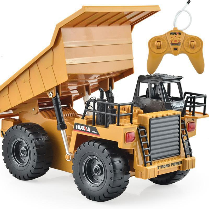 Costbuys  RC Engineering Vehicles Remote Control Car Truck Dump Truck Tipper Multi-function Car Alloy Toys For Children Kids Gif