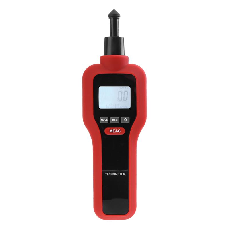 Costbuys  2 In 1 Non-Contact Rev Speed Meter Tester High Precise Digital Laser Aiming Tachometer Photoelectric Contact RPM Speed