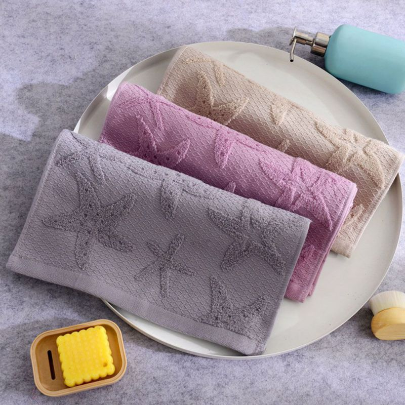 2 Strips Of Double Gauze Towel Three-dimensional Embossed Jacquard Fabric Towel Fabric Soft Wash Towel Bathroom Supplies Reuse