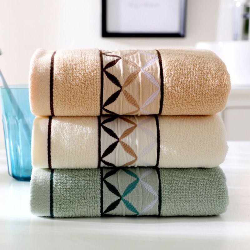 2 Strips Towel Fabric Soft Double-sided Limited Stock Cotton Wash Towel Plain Soft Absorbent Towel Towel Supplies Wash