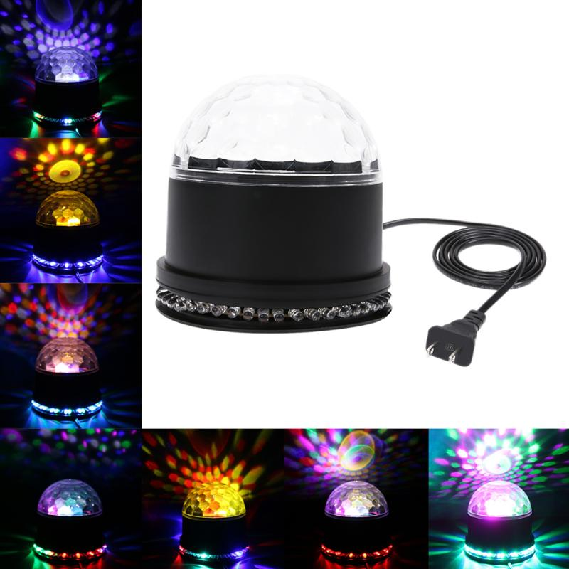 Costbuys  2 in 1 Six Color LED Stage Lamps Crystal Magic Ball Sound Control Laser Stage Effect Light Party Disco Club DJ Light