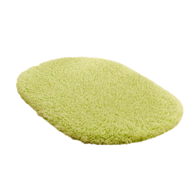 Costbuys  Fashion Bathroom Carpets Absorbent Soft Memory Foam Doormat Floor Rugs 40*60cm Oval Non-slip Bath Mats 5 Colors - Gree
