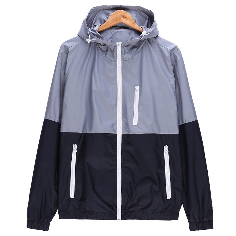 Men/Boy Gray Windproof Jacket Autumn Men Slim Fitted Hoodies Jacket Casual Men Jackets Jaqueta Masculina