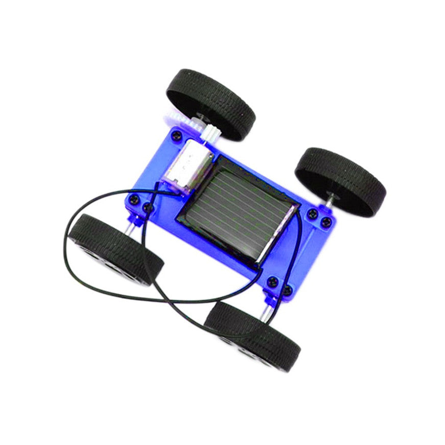 Costbuys  # 1 Set Mini Solar Powered Toy DIY Car Kit Children Educational Gadget Hobby Funny - White