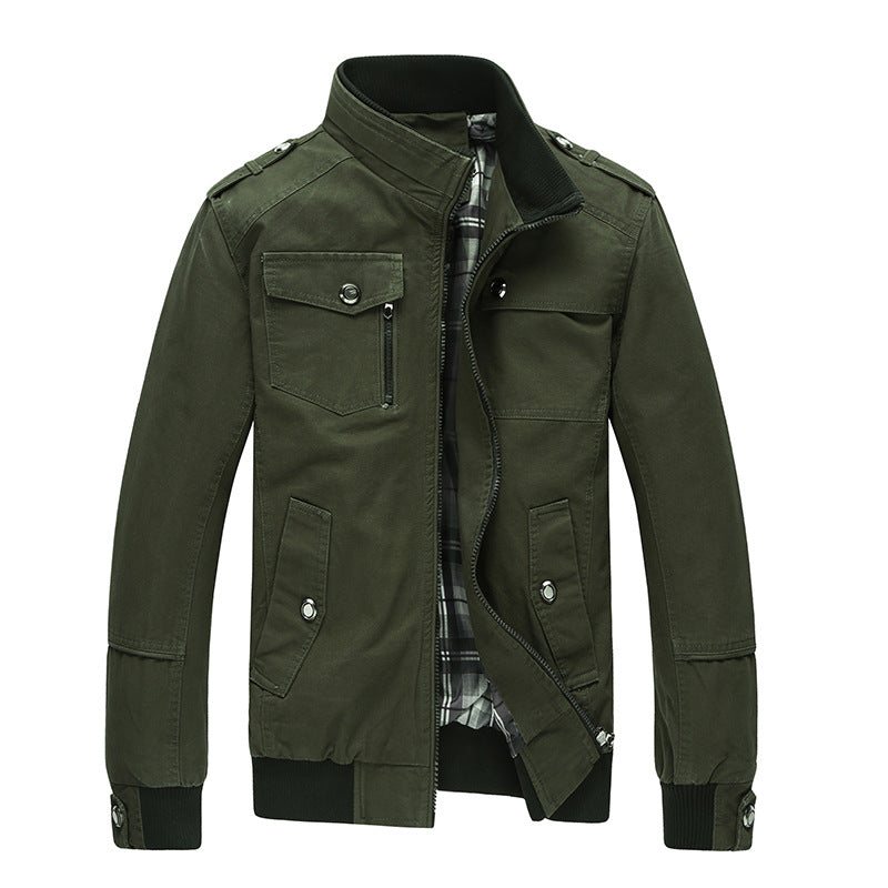 Autumn Spring Jacket Men Casual Coats Middle-Aged Comfortable Jackets For Male Outerwear Plus size M-4XL