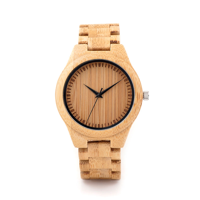 Costbuys  Men Watches Bamboo Watches for Men and Women Casual Bamboo Wristwatch relogio masculino as Gifts C-G28a Mens/Womens Qu