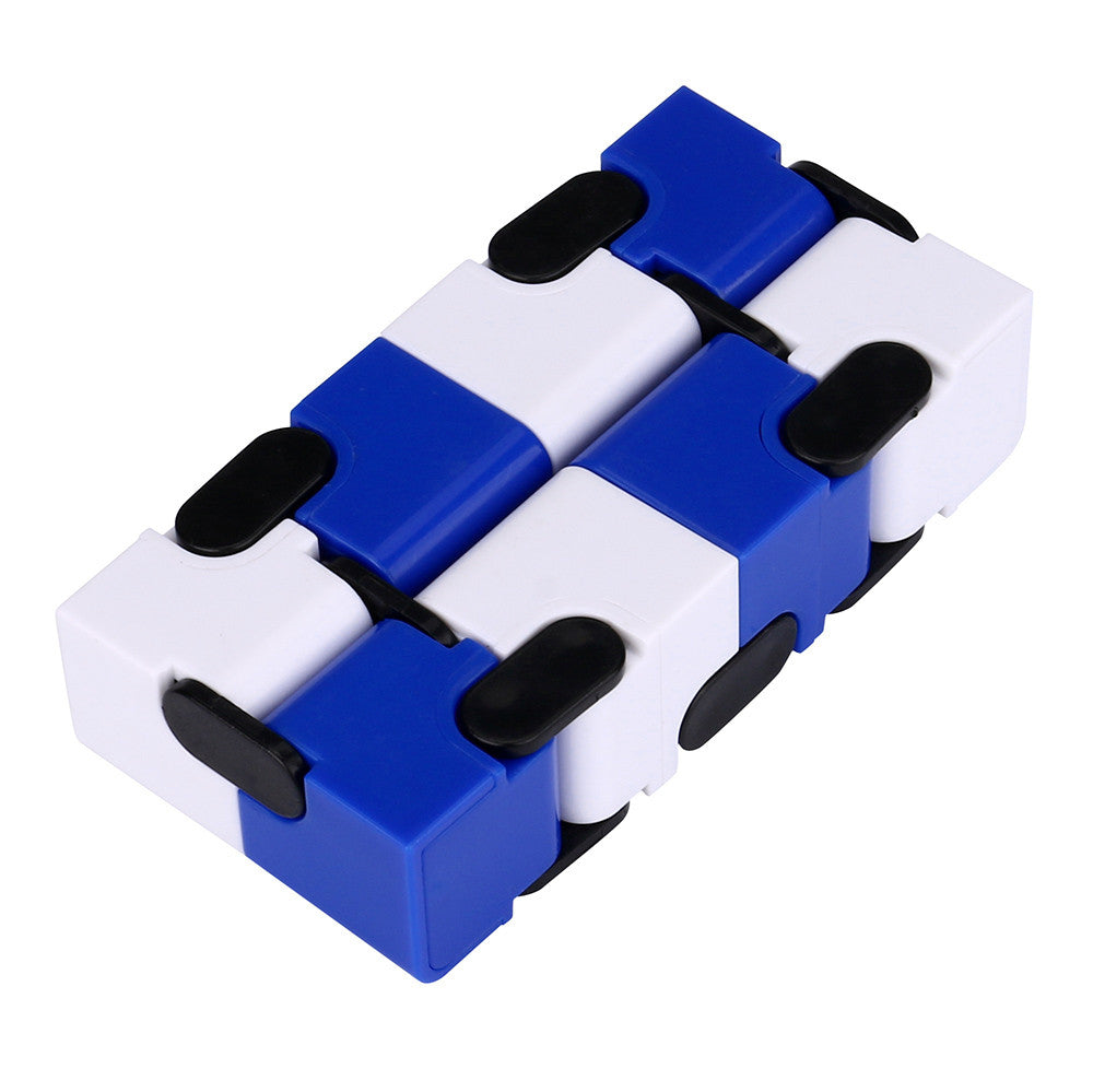 Costbuys  Blue and white Luxury EDC Infinity Cube Mini For Stress Relief Fidget Anti Anxiety Stress Funny cube fidget toy #JD520