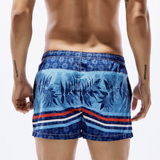 Beach Board Shorts Men Swim Shorts Swimwear Leaves Pattern Male Bermudas Boardshort Surf Shorts Sea Sport Suit
