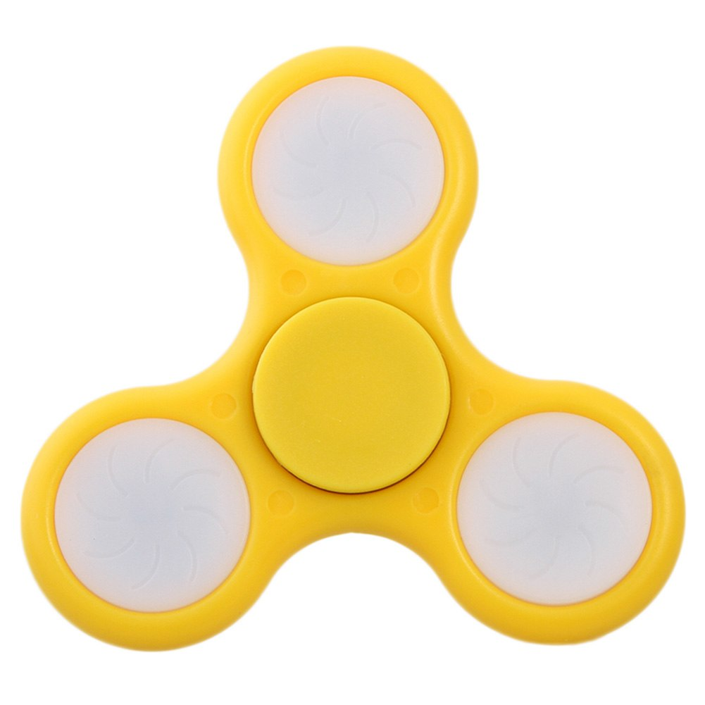 Costbuys  Creative LED Fidget Spinner Switch Gyro Attractive Toys For Adult And Childen Stress Relief Toy Fidget Spinner 8 Color
