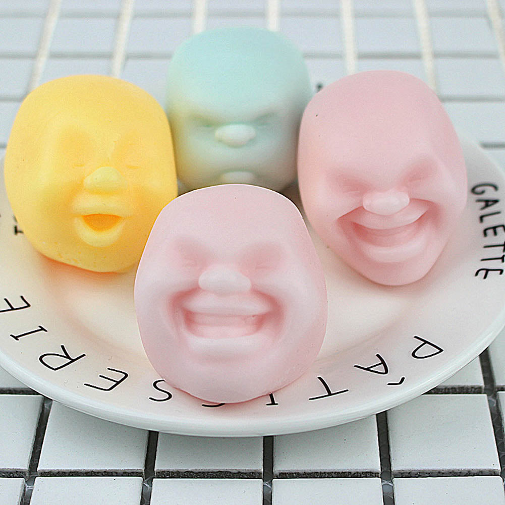 Costbuys  Funny gadgets anti stress toys Human Emotion Face Vent Ball caomaru geek surprise Adult Novelty toys Color random