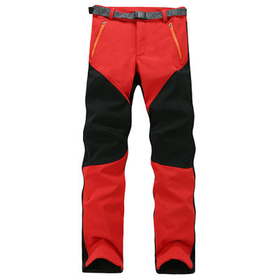 Costbuys  Hiking Fleece Pants Waterproof Windproof Women Hiking Pants Camping Outdoors Leisure Breathable Combat trousers - Red
