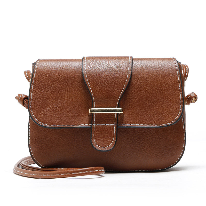 Costbuys  Hot Sale women bag New Fashion women Messenger Bags   High Quality PU leather Crossbody shoulder bags - brown / (20cm<