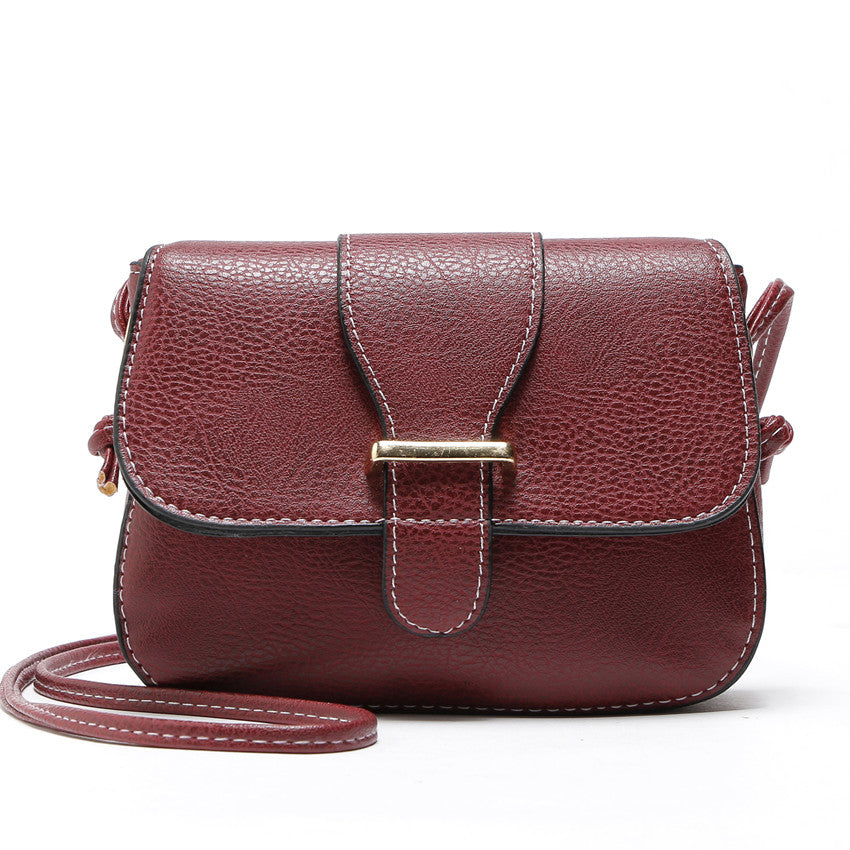 Costbuys  Hot Sale women bag New Fashion women Messenger Bags   High Quality PU leather Crossbody shoulder bags - Red / (20cm<Ma