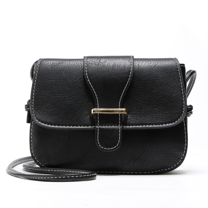 Costbuys  Hot Sale women bag New Fashion women Messenger Bags   High Quality PU leather Crossbody shoulder bags - Black / (20cm<