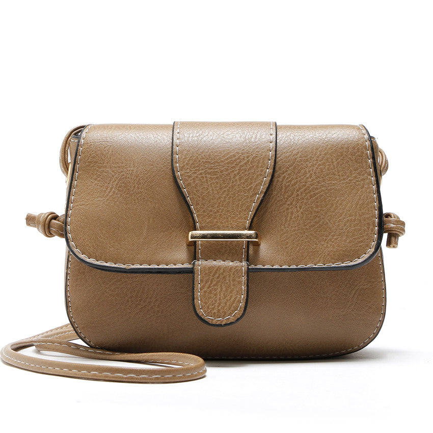 Costbuys  Hot Sale women bag New Fashion women Messenger Bags   High Quality PU leather Crossbody shoulder bags - Beige / (20cm<
