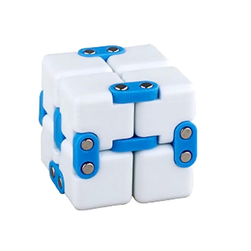Costbuys  Infinity Cube For Stress Relief Fidget Anti Anxiety Stress Funny EDC Toy Gift fidget cube - Blue