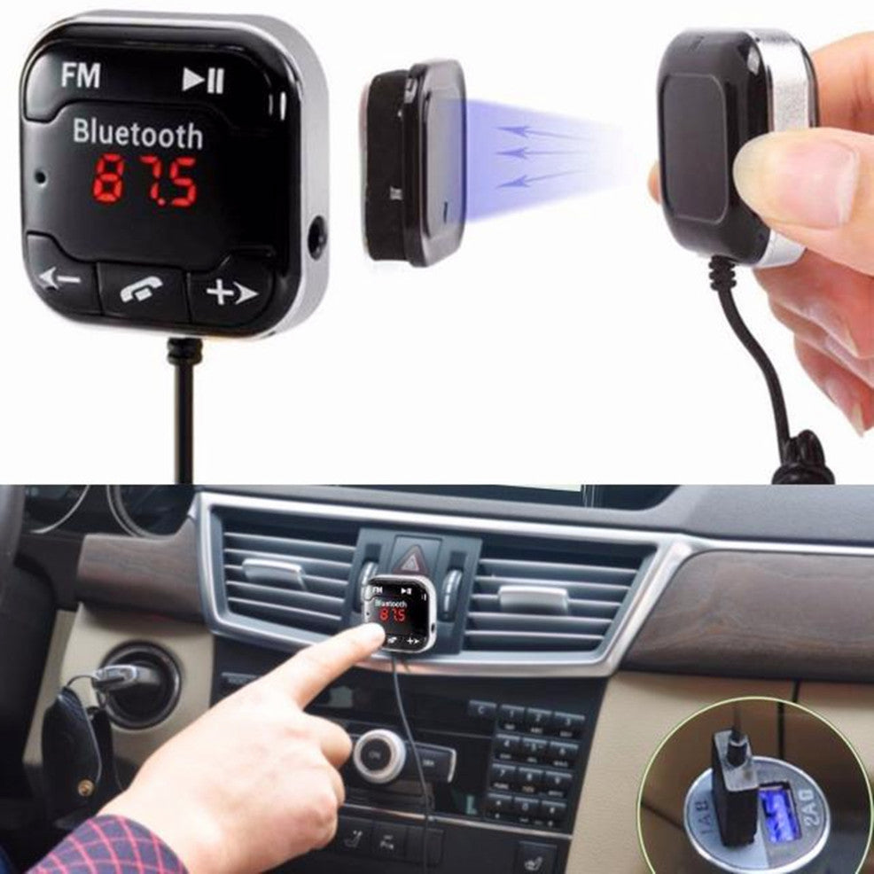 Costbuys  MP3 Car Kit Wireless Bluetooth FM Transmitter Modulator MP3 Player USB SD LCD Remote Hands free Music Player - Black /
