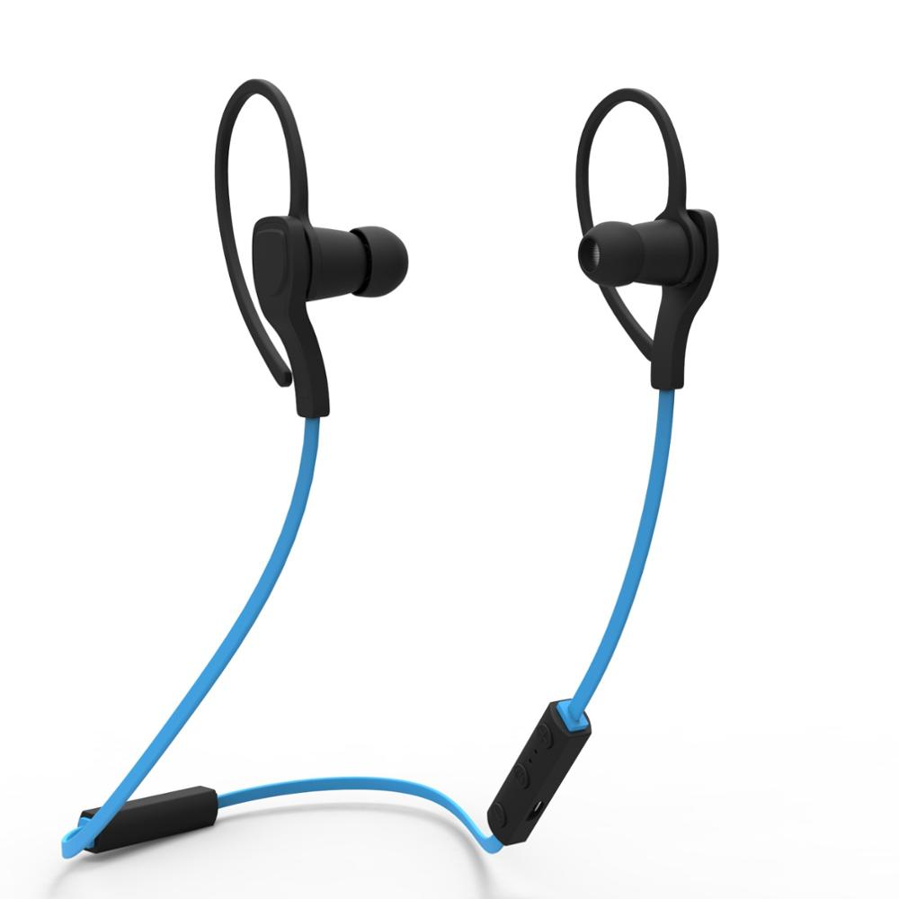 Costbuys  NEW BH-06 Wireless Bluetooth Headphones Stereo Music Sport Earphone EarHook With Mic for ios android smartphone - Blue