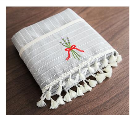 Costbuys  Cotton Linen Table Cloth With Tissue Table Cover Protector For Tea Table Home Textile Table Runners Toalha Mesa - 6 /