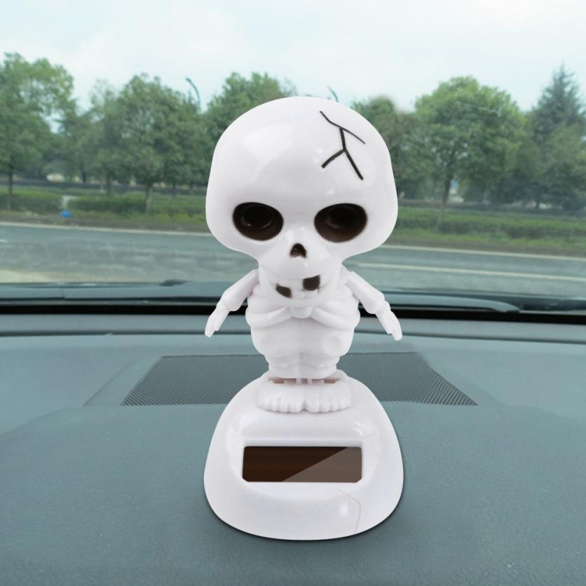 Costbuys  Solar Powered Dancing Halloween Swinging Animated Bobble Dancer Toy Car Decor Car Decoration Different Style - Gold