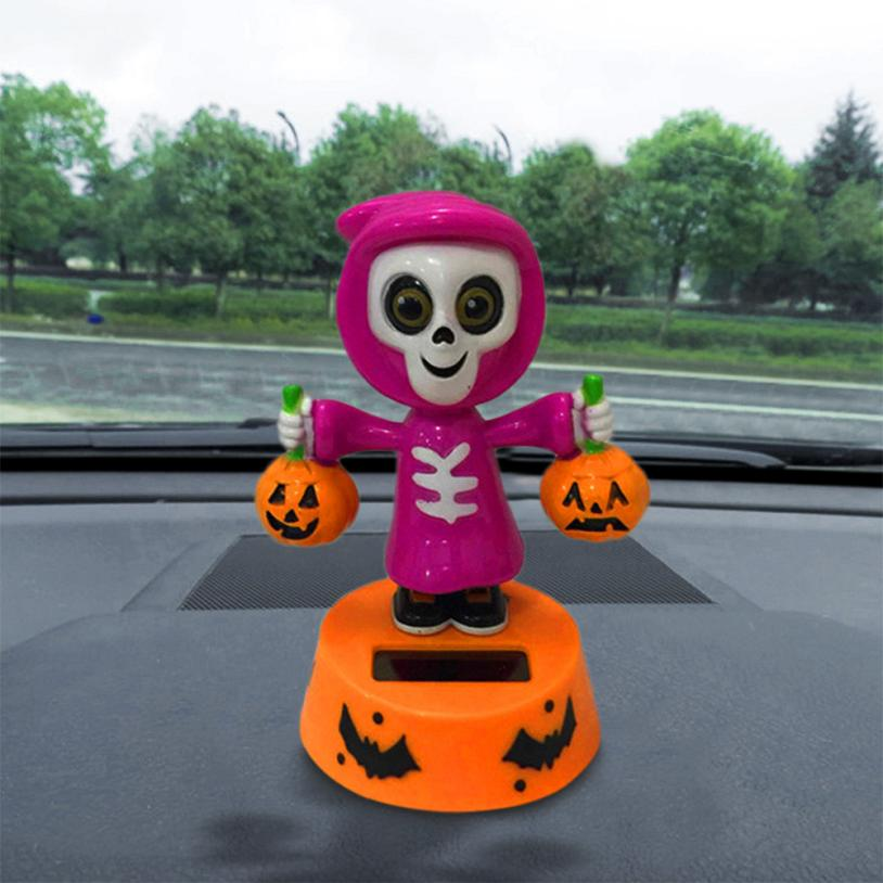 Costbuys  Solar Powered Dancing Halloween Swinging Animated Bobble Dancer Toy Car Decor Car Decoration Different Style - Orange