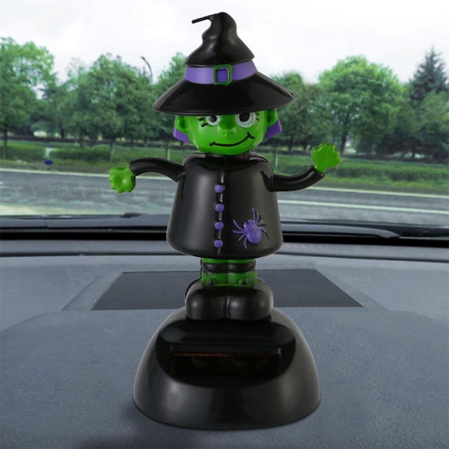Costbuys  Solar Powered Dancing Halloween Swinging Animated Bobble Dancer Toy Car Decor Car Decoration Different Style - Black