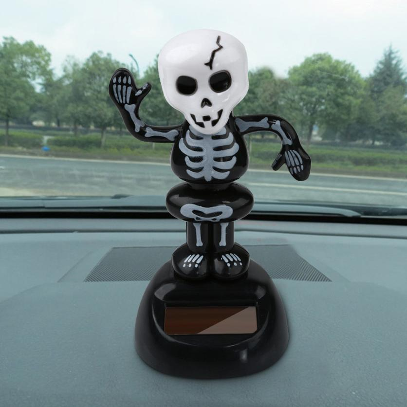 Costbuys  Solar Powered Dancing Halloween Swinging Animated Bobble Dancer Toy Car Decor Car Decoration Different Style - Brown
