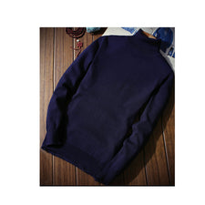 Autumn Mens Sweaters Casual Male's Black Solid Knitwear Slim Fit Clothing Sweater