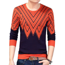 Autumn Spring  Casual Sweater Men Fashion long Sleeve pullovers O-Neck Slim Fit Knitting Mens Sweaters